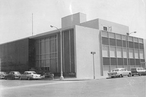 Library exterior, 1958