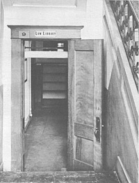Old courthouse library entrance