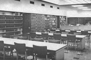 Library reading room, 1958