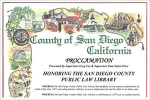 County of San Diego Proclamation 2011