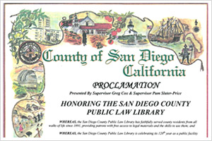 County of San Diego Proclamation 2011