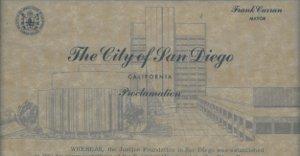 City of San Diego Proclamation 1967