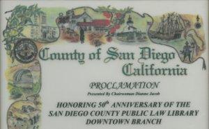 County of San Diego Proclamation 2009