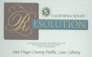 California Senate Resolution 2009