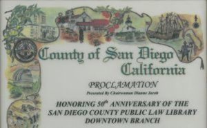 County of San Diego Proclamation 2009