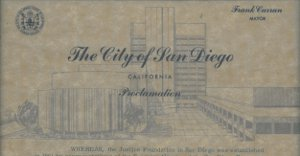 City of San Diego Proclamation 1967