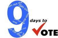 9 days to vote