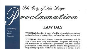 San Diego Proclamation