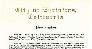 Encinitas Lawday 2014 Proclamation