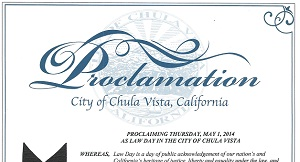 Chula Vista Lawday 2014 Proclamation