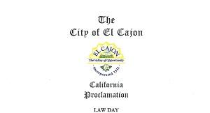 El Cajon Lawday 2015 Proclamation