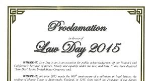 Oceanside Lawday 2015 Proclamation