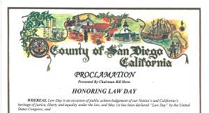 San Diego County Lawday 2015 Proclamation