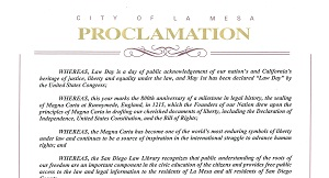 La Mesa Lawday 2015 Proclamation