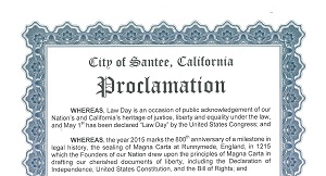 Santee Lawday 2015 Proclamation