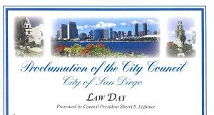 San Diego Lawday 2015 Proclamation
