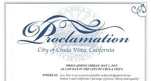 Chula Vista Lawday 2015 Proclamation