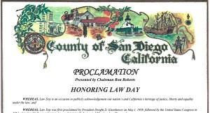 San Diego County Lawday 2016 Proclamation
