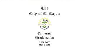 El Cajon Lawday 2016 Proclamation