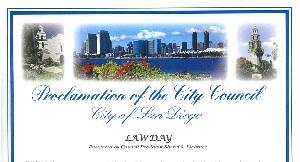 San Diego Lawday 2016 Proclamation