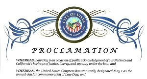 City of Vista Law Day Proclamation