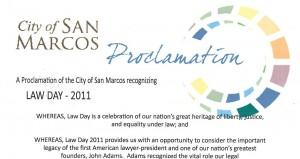 San Marcos Proclamation