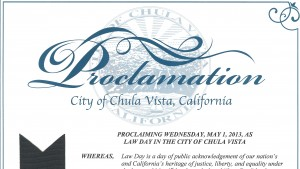 Chula Vista Proclamation