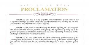 La Mesa Proclamation