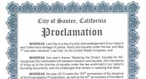 Santee Proclamation