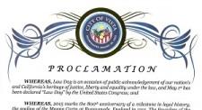 Vista Lawday 2015 Proclamation