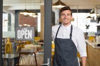 male baker opens new bakery