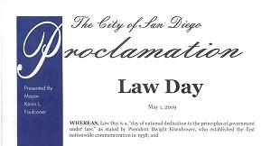 City of San Diego Law Day Proclamation