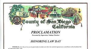 County of San Diego Law Day Proclamation