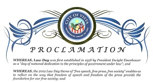 Vista Law Day Proclamation 2019